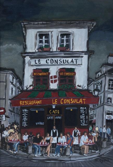 モンマルトルのカフェ コンシュラ