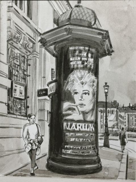 マリリンモンローの広告塔