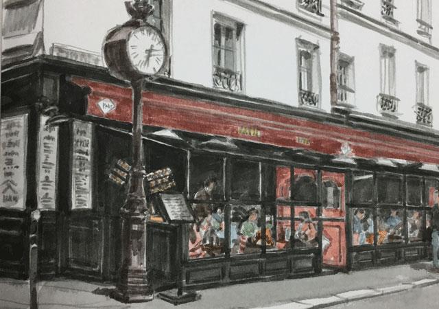 ムフタール街のカフェ