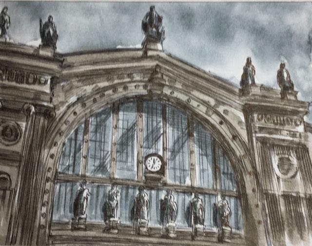 パリ北駅正面