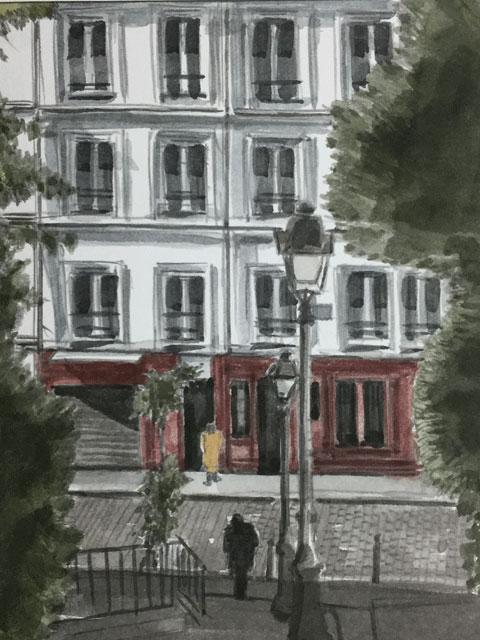 モンマルトルの街灯