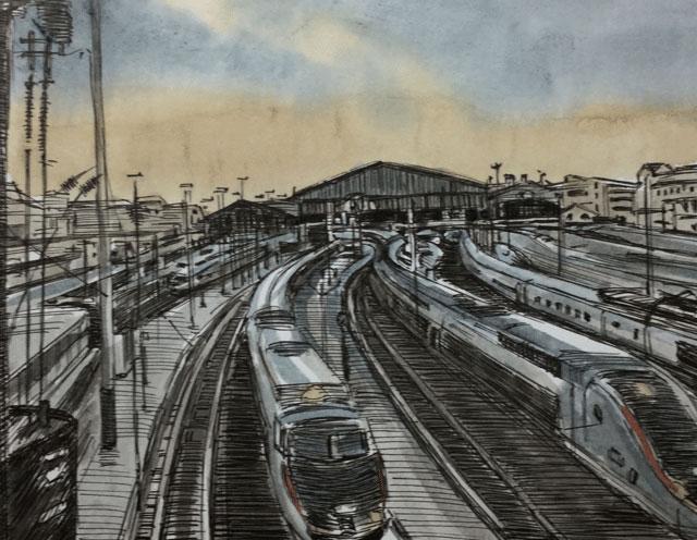 パリ北駅 国際列車