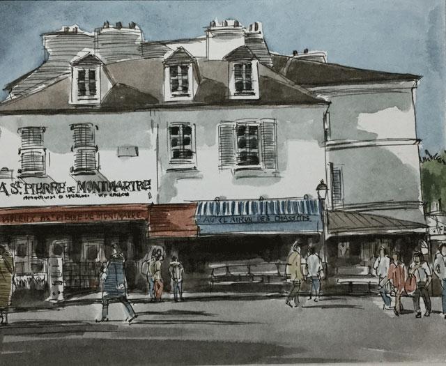 テルトル広場の土産店