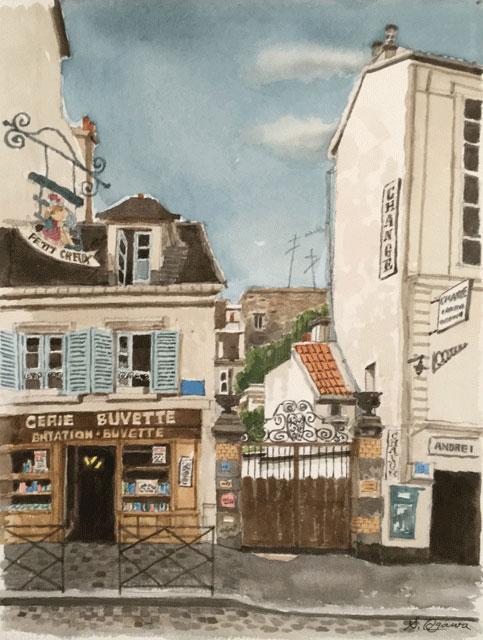 テルトル広場のカフェ