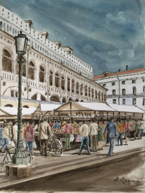 パドヴァ シニョーリ広場