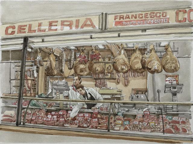 パドヴァ ラジョーネ宮の肉屋