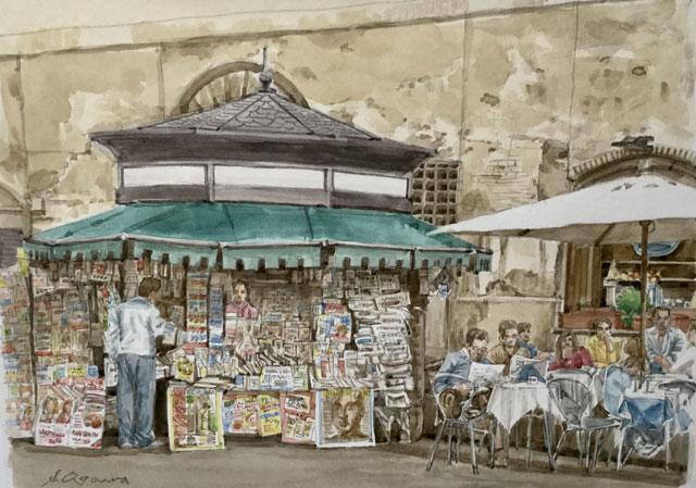 ローマ 新聞スタンド