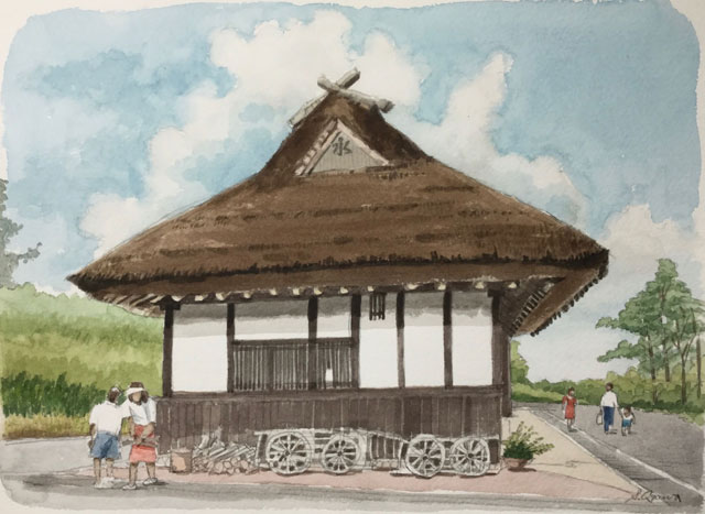 三田市 有馬富士公園の茅葺きの民家